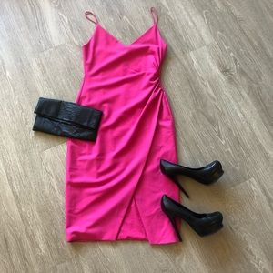 "Black halo Hot pink ""Bowery"" dress"